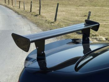GT4 GRP rear spoiler for BMW E92 M3 (Image shows the carbon version )