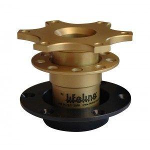 Lifeline Group N Steering Wheel Quick Release Boss, Gold
