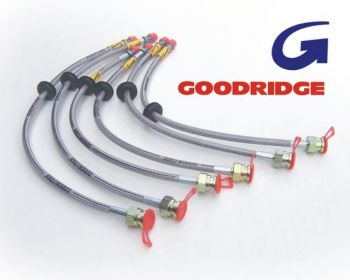 Goodridge Braided Brake Hoses (Zinc) BMW E30 M3 6 Line Kit