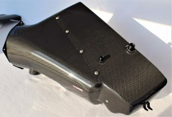 BMW E46 M3 S54 Carbon Airbox (Karbonius) With OEM Carbon trumpets and 5 year Warranty