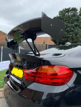 BMW M3/4 F80/82 GT4 Rear spoiler in Carbon Fibre