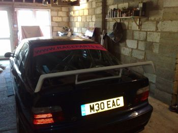 BMW STW (supertourer) replica boot spoiler, low downforce version