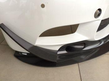 BMW E9* GT4 Style front Bumper Canards Carbon Fibre